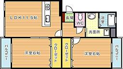 ソレイユ吉祥寺[1階]の間取り