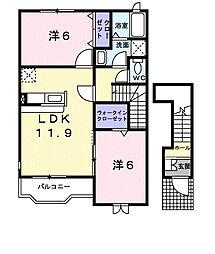 グラントゥールI[2階]の間取り