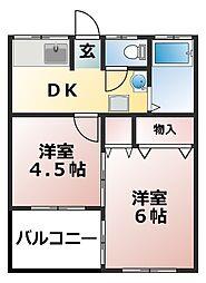 小倉マンション[103号室]の間取り