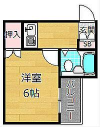 宮之阪パレス[2階]の間取り