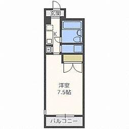 シティパレス菊水[4階]の間取り