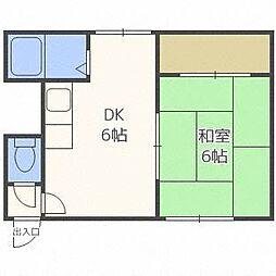 21条ビル[3階]の間取り