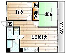 三木コーポI[301号室]の間取り