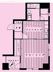 東京都中央区八丁堀の賃貸マンションの間取り