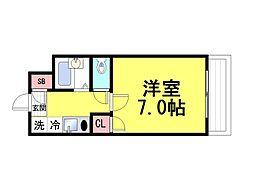 パレ・ユート阪急六甲[2005号室]の間取り