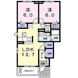 サニーハウスIII[1階]の間取り