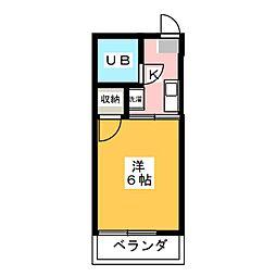 シティハイムII番館[1階]の間取り