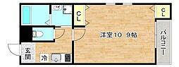 Osaka Metro谷町線 太子橋今市駅 徒歩5分の賃貸マンション 3階1Kの間取り