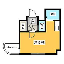 ジャルダン古門戸[3階]の間取り