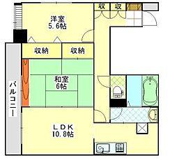 サンハロー秋田駅前[801号室]の間取り
