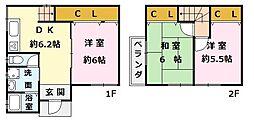[一戸建] 大阪府泉大津市条南町 の賃貸【/】の間取り