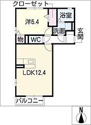 コアロード III A棟[2階]の間取り