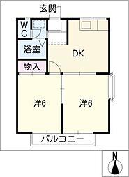 エステートピアまき[2階]の間取り