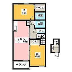 キャスケット[2階]の間取り