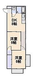 第一金子マンション[2階]の間取り