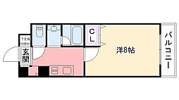 クルーレ武庫川[1階]の間取り