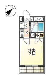 アズロワイヤル芳野[7階]の間取り