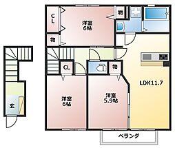 サンテラス[2階]の間取り