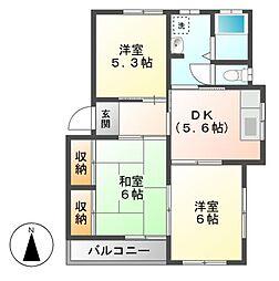 大沢ハイツA[1階]の間取り