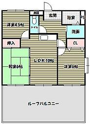 ソレーユキチコウ[4階]の間取り