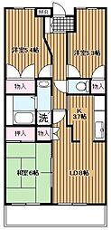 秋津高山館[506号室]の間取り