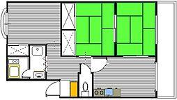 第一東ビル[403号室]の間取り