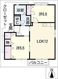 エクレール・マーヤC棟[2階]の間取り