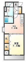 AVENUE23[8階]の間取り