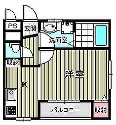 ナガタマンション2[2階]の間取り