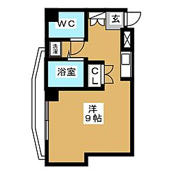 キャピタル萩野町[4階]の間取り