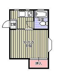東千葉ハイリビング壱番館[201号室]の間取り