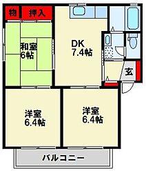 三洋タウン水巻 A棟[1階]の間取り