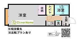 神奈川県大和市西鶴間4丁目の賃貸アパートの間取り