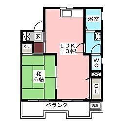 カルチェラタンビル[5階]の間取り
