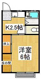 コーポ原[2階]の間取り
