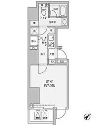 東京メトロ千代田線 赤坂駅 徒歩2分の賃貸マンション 11階1Kの間取り