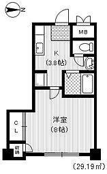 富士スカイマンション[3階]の間取り