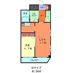 東京都台東区松が谷3丁目の賃貸マンションの間取り