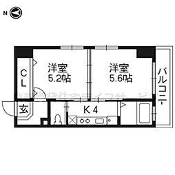 KUSHIGE GOJO[814号室]の間取り