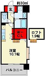 セフィロト 2階ワンルームの間取り