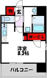 仮)LANDIC 美野島3丁目 6階1Kの間取り