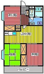 ゴールドマンション小熊PART1[307号室]の間取り