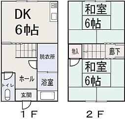 [タウンハウス] 岡山県岡山市東区西大寺射越 の賃貸【/】の間取り