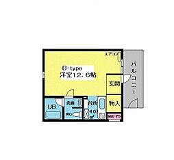 メゾンクレール2[105号室号室]の間取り