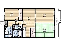 ネオコーポ鶴見緑地[5階]の間取り