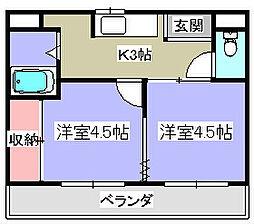 M'プラザ津田駅前7番館[3階]の間取り