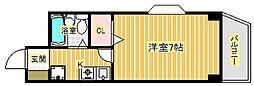 キャピタルII[3階]の間取り