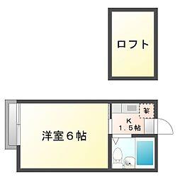 神奈川県川崎市幸区戸手2丁目の賃貸アパートの間取り