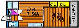 ローズパーク津島[1階]の間取り