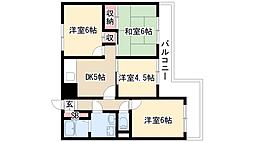 メゾンミウラ[2階]の間取り